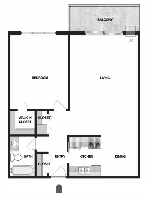 Floor Plan  Floor plan Villages on McKnight Apartments