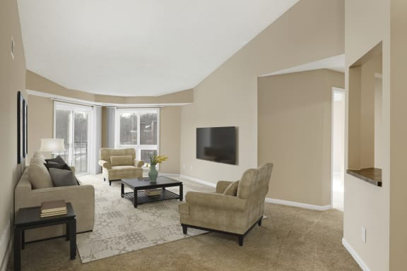 The Riverwood Apartments in Lilydale, MN Living Room