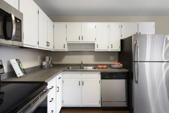 View of Kitchen with Stainless Steel Appliances