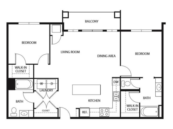 Floor Plan  Evans Meadows Apartments in Elk River, MN 2 Bedroom 2 Bath