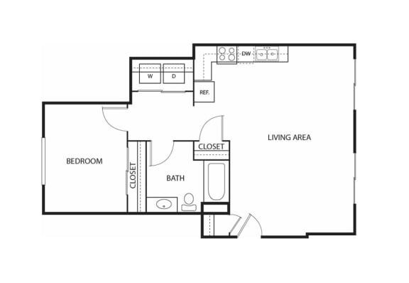 Floor Plan  Beach South at the Lake Apartments in Robbinsdale, MN 1 Bed, 1 Bath