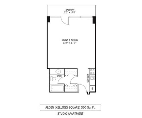 Kellogg Square Apartments in St. Paul, MN Studio Apartment