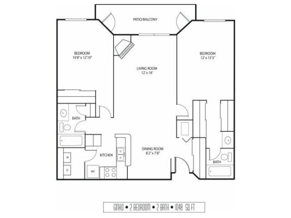 Floor Plan  Regency Woods Apartments in Minnetonka, MN 2 Bedroom 2 Bath
