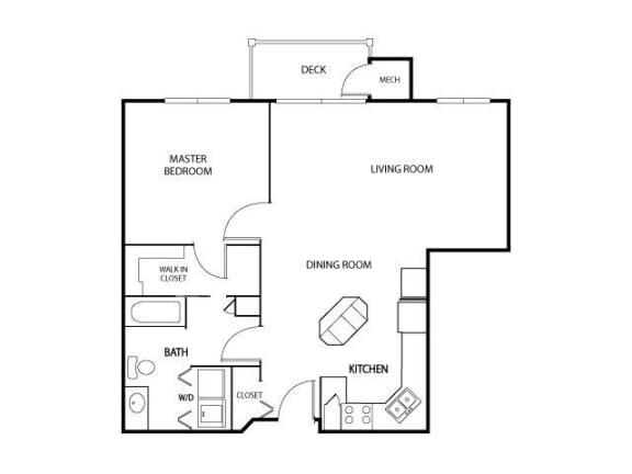 Floor Plan  The Gables at Park Pointe Apartments in St. Louis Park, MN 1 Bedroom 1 Bath