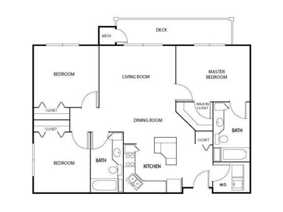 Floor Plan  The Gables at Park Pointe Apartments in St. Louis Park, MN 3 Bedroom 2 Bath