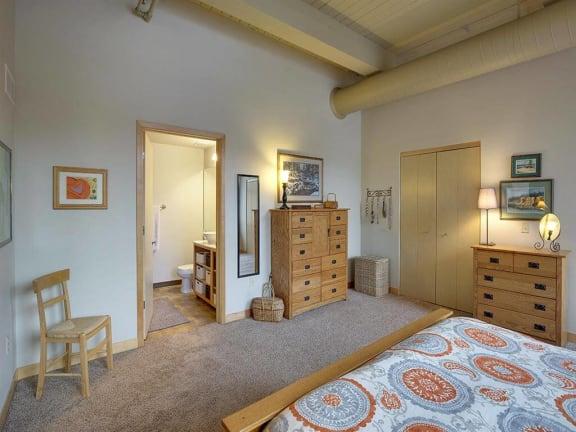 Lowertown Lofts Apartments in St. Paul, MN Bedroom