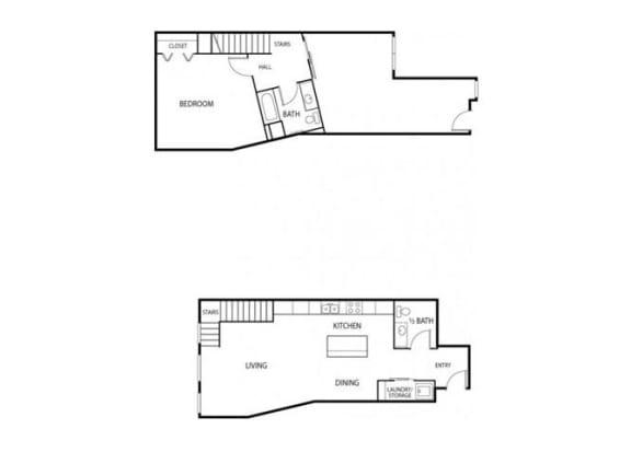 Lowertown Lofts in St. Paul, MN 1 Bedroom 1 Bath Plus DenApartment