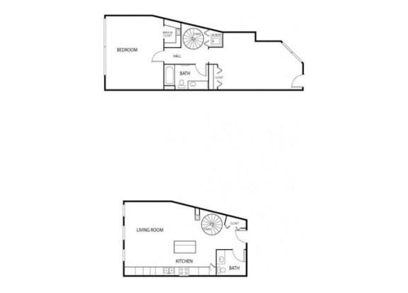 Lowertown Lofts in St. Paul, MN 1 Bedroom 1 Bath Plus Den Apartment