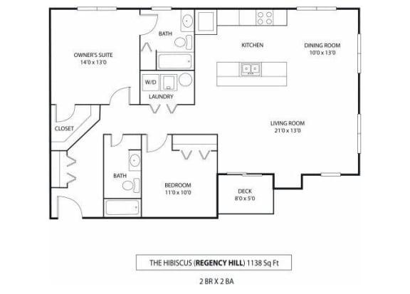 Floor Plan  Regency Hill Apartments in Woodbury, MN 2 Bedroom 2 Bath