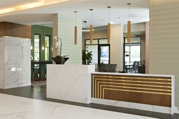Nuvelo at Parkside Apartments in Apple Valley, MN Lobby & Concierge Desk