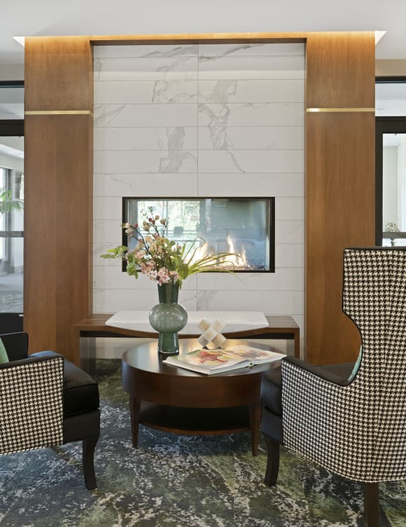 Nuvelo at Parkside Apartments in Apple Valley, MN Lobby & Fire Place
