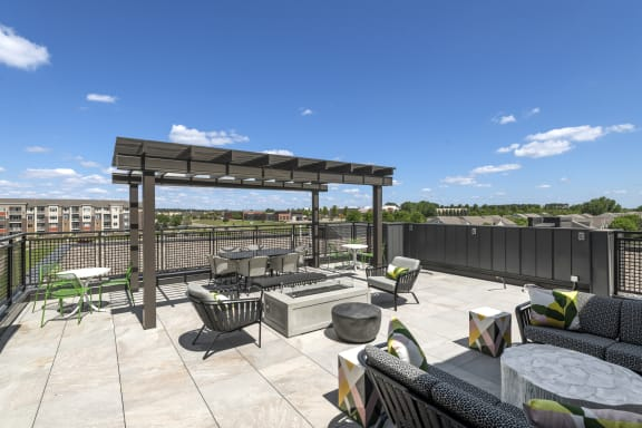 Nuvelo at Parkside Apartments in Apple Valley, MN Rooftop Deck