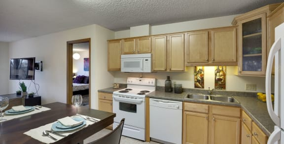 Park Pointe Apartments in St. Louis Park, MN Remodeled Kitchen