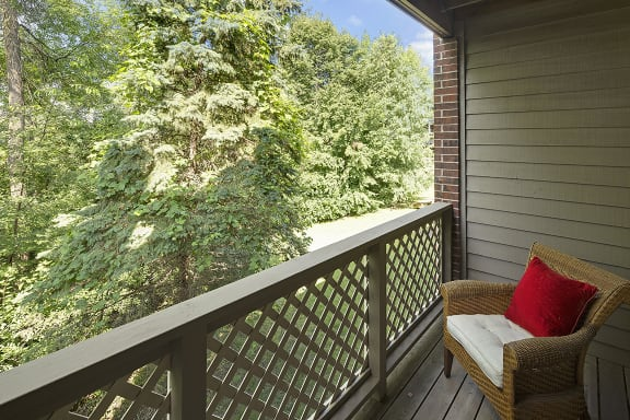 Regency Woods Apartments in Minnetonka, MN Private Balcony