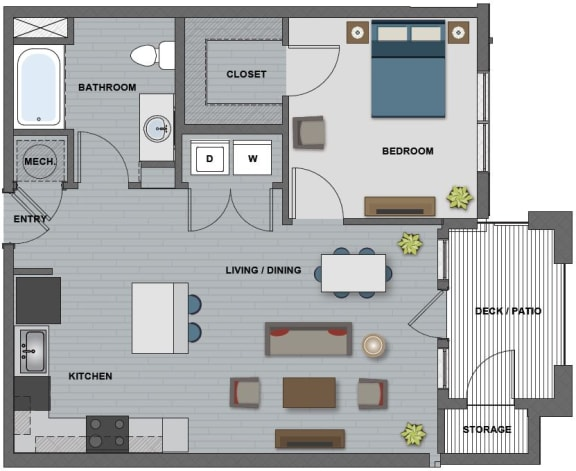 Edison at Riverwood 1 Bedroom 1 Bathroom (Bell)