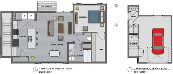 Edison at Riverwood 1 Bedroom  Bathroom (Jefferson)