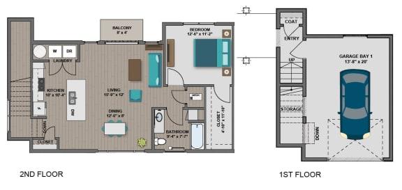 Floor Plan  Edison at Spirit Morgan Floorplan