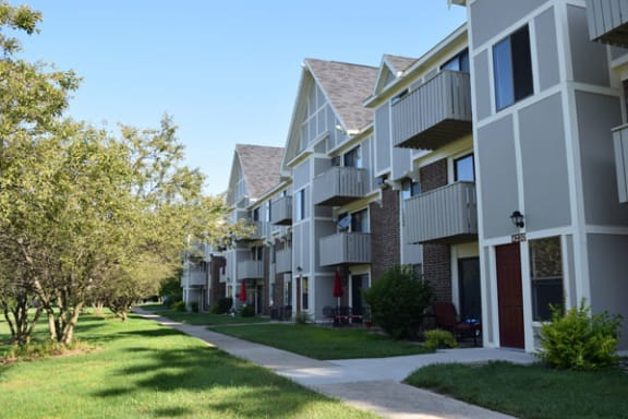 Private Patio or Balcony Offered At Hickory Village Apartments in Mishawaka, IN