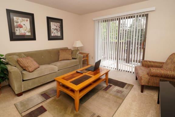 Slider to Private Balcony at Granada Apartments in Jackson, MI