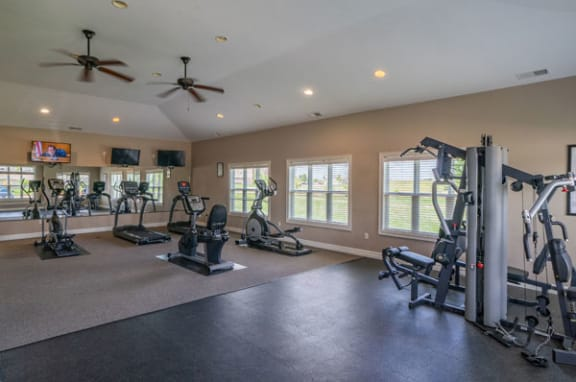 24-Hour Fitness Center at Fieldstream Apartment Homes in Ankeny, IA