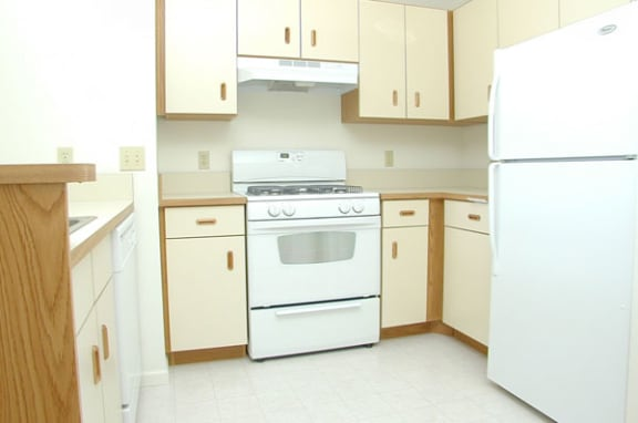 Two Bedroom Kitchen at Black Sand Apartment Homes in Lincoln, NE