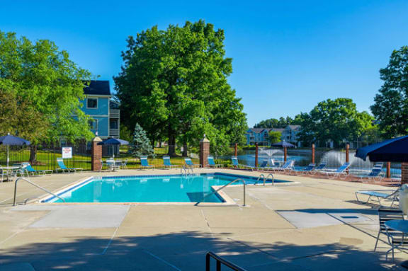 Refreshing Pool with Sundeck at North Pointe Apartments in Elkhart, IN