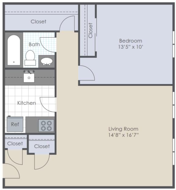 Studio 2D floor plan image