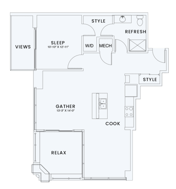 Floor Plan  Skyhouse plan A10T