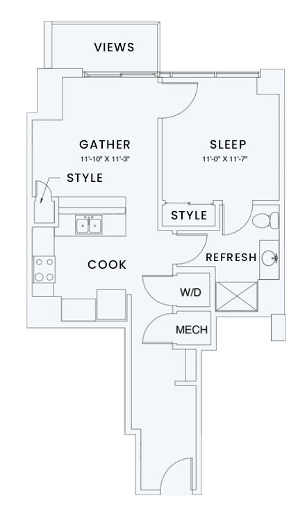 Floor Plan  Skyhouse plan A2
