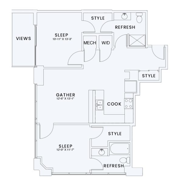 Floor Plan  Skyhouse plan B1