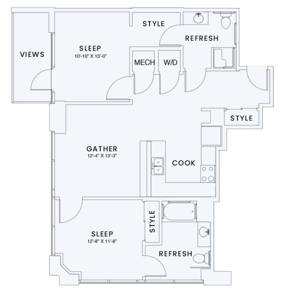 Floor Plan  Skyhouse plan B1A
