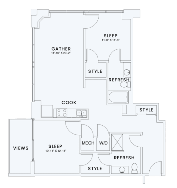 Floor Plan  Skyhouse plan B2