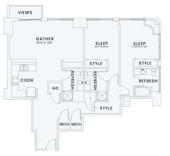 Floor Plan  Skyhouse plan B3