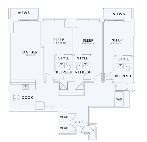 Floor Plan  Skyhouse plan C5