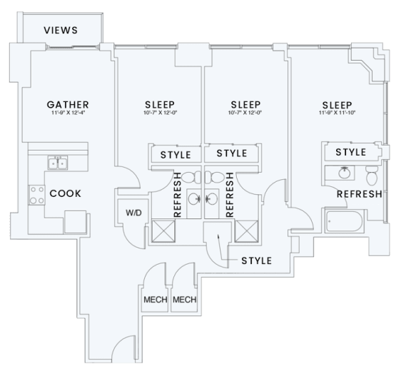 Floor Plan  Skyhouse plan C6