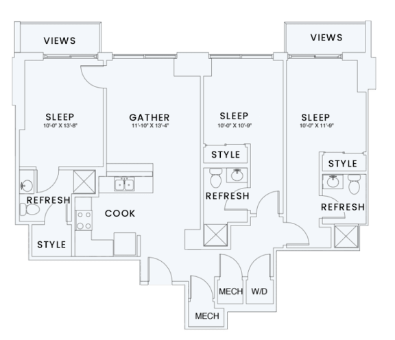 Floor Plan  Skyhouse plan C7