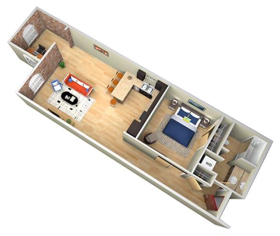 Floor Plan  Revolution Mill Levi floorplan