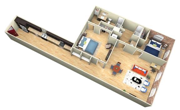 Floor Plan  Revolution Mill Moses floorplan