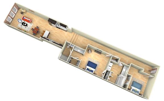 Floor Plan  Revolution Mill Loft C floorplan
