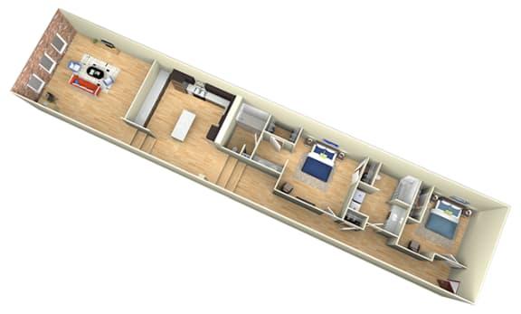 Floor Plan  Revolution Mill Loft D floorplan
