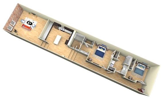 Floor Plan  Revolution Mill Loft E floorplan