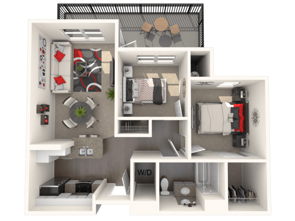 Morris - two bedroom one bathroom unit at FountainGlen Temecula