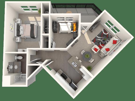 Villa - Two bedroom, one bathroom at FountainGlen Temeucla