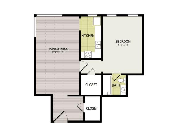 Floor Plan  Broadview Apartments 1F Floor Plan