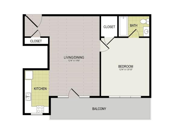 Floor Plan  Broadview Apartments 1I Floor Plan