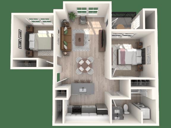 Floor Plan  Broadview Apartments 2A Floor Plan