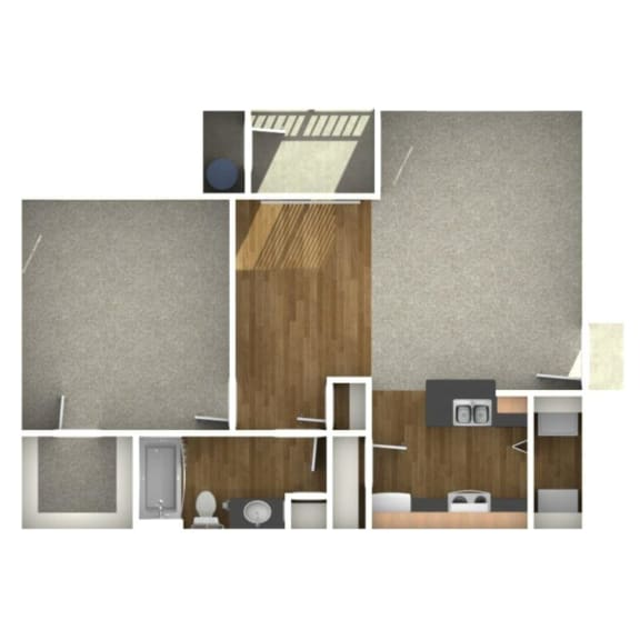 Trove Eastside Apartments Unfurnished A1 Floor Plan