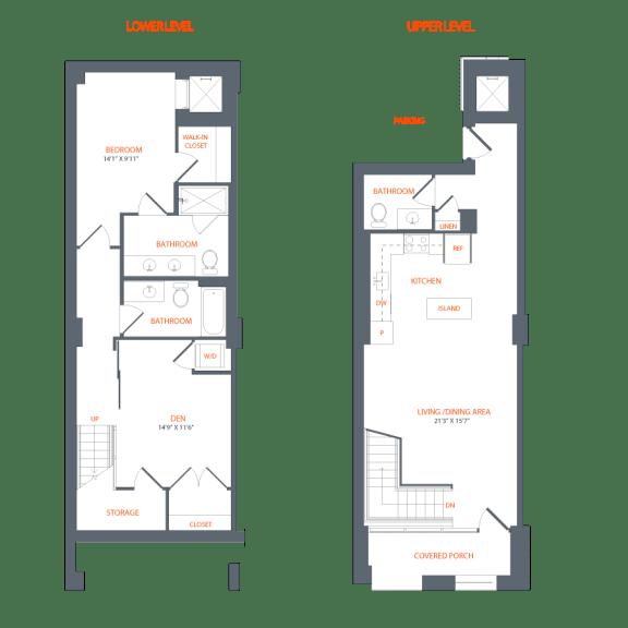 Floor Plan  Legacy West End Apartments C1 Floor Plan