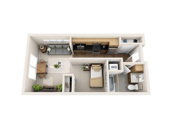 Waterscape at Juanita Village Apartments E1A Floor Plan