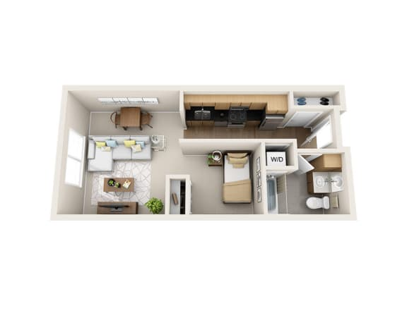 Waterscape at Juanita Village Apartments E1B Floor Plan